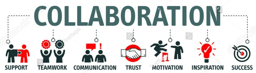stock-vector-banner-collaboration-and-teamwork-with-icons-715797241